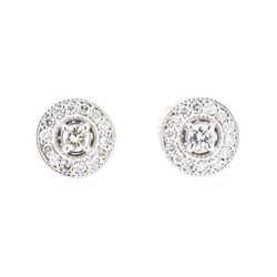 14KT White Gold 0.30 ctw Diamond Earrings