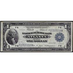 1918 $1 Federal Reserve Bank of Atlanta Note