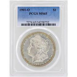 1901-O $1 Morgan Silver Dollar Coin PCGS MS65