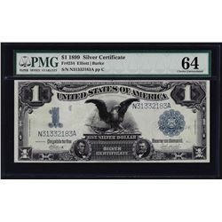 1899 $1 Black Eagle Silver Certificate Note Fr.234 PMG Choice Uncirculated 64