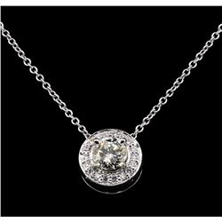 14KT Yellow Gold 0.58 ctw Diamond Pendant with Chain