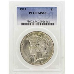 1923 $1 Peace Silver Dollar PCGS MS65+