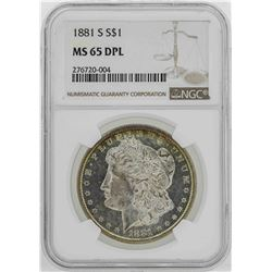1881-S $1 Morgan Silver Dollar Coin NGC MS65DPL