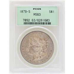 1879-S $1 Morgan Silver Dollar Coin PCGS MS63