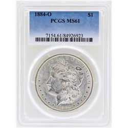 1884-O $1 Morgan Silver Dollar Coin PCGS MS61