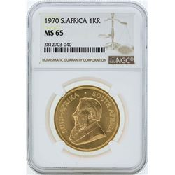 1970 South Africa Krugerrand Gold Coin NGC MS65