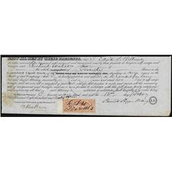 1863 Morris Canal & Banking Company Stock Certificate