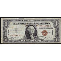 1935A $1 Silver Certificate WWII Emergency Hawaii Note