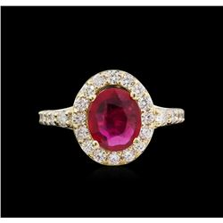 14KT Yellow Gold 2.02 ctw Ruby and Diamond Ring