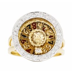 14KT Yellow Gold Roulette 0.40 ctw Diamond Ring