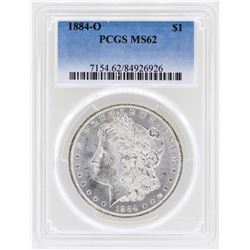 1884-O $1 Morgan Silver Dollar Coin PCGS MS62