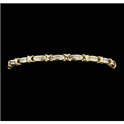 10KT Yellow Gold Ladies 0.50 ctw Diamond Tennis Bracelet