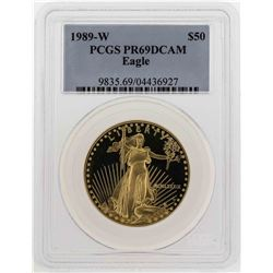 1989-W $50 American Gold Eagle Coin PCGS PR69DCAM