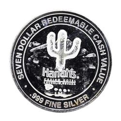 .999 Fine Silver Harrah's Casino Hotel Laughlin $7 Limited Edition Gaming Token
