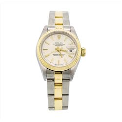 Rolex 18KT Two Tone Gold Datejust Ladies Wristwatch