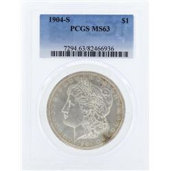 1904-S $1 Morgan Silver Dollar Coin PCGS MS63