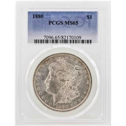 1880 $1 Morgan Silver Dollar Coin PCGS MS65