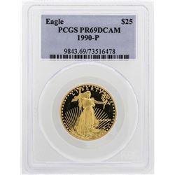 1990-P $25 American Gold Eagle Proof Coin PCGS PR69DCAM
