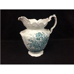 VINTAGE DUDSON WILCOX & TILL JUG CARNATION PATTERN 9 X 12 (MADE IN ENGLAND)