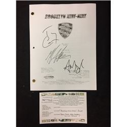 "AUTOGRAPHED BROOKLYN NINE-NINE ""THE TAGGER"" TV SHOW DRAFT (ANDY SAMBERG, TERRY CREWS, FUMERO)"