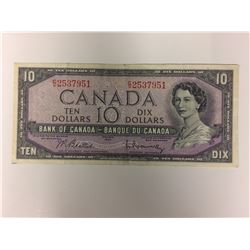 1954 CANADIAN $10 BANK NOTE