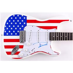 "Dave Grohl Signed Full-Size ""American Flag"" Electric Guitar (JSA COA)"