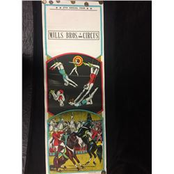 VINTAGE 1950's AUTHENTIC MILLS BROS CIRCUS POSTER
