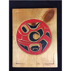 "NATIVE WOODEN ART (RED SALMON) 9"" X 12"""