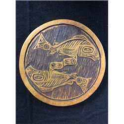 "WEST COAST VINTAGE NATIVE WOODEN ART (12"")"