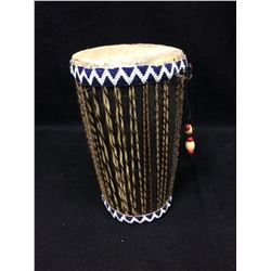 "NATIVE ART HAND DRUM (8"" X 4"")"