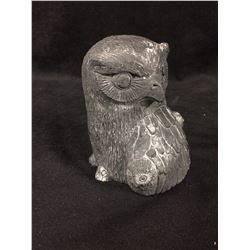 "VINTAGE NATIVE OWL STATUE (4"")"