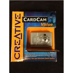CREATIVE CARD CAM POCKET SIZED DIGITAL CAMERA IN BOX