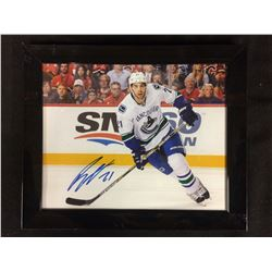 "BRANDON SUTTER AUTOGRAPHED 8"" X 10"" FRAMED PHOTO"