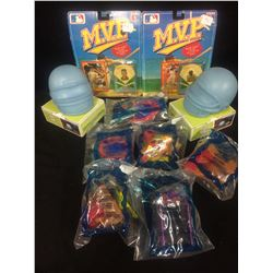McDONALDS HOT WHEELS & MVP BASEBALL PLAYERS COLLECTOR PIN SERIES LOT