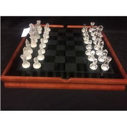 GLASS & CRYSTAL CHESS SET