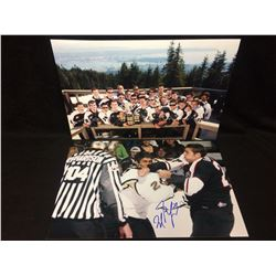 "MILAN LUCIC 16"" X 20"" PHOTO LOT (ONE AUTOGRAPHED)"