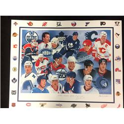 "CANADIAN HOCKEY GREATS PRINT AUTOGRAPHED BY TREVOR LINDEN (16"" X 20"")"