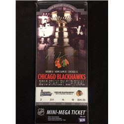 PATRICK SHARP AUTOGRAPHED CHICAGO BLACK HAWKS MINI-MEGA TICKET (2010 STANLEY CUP FINAL)