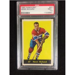1960 PARKHURST #47HENRI RICHARD (NM+7.5) PSA
