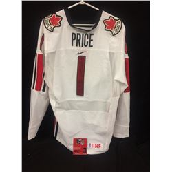 "CAREY PRICE AUTOGRAPHED TEAM CANADA JERSEY INSCRIBED ""GOY O7"" WJC 07 MVP"" W/ COA"