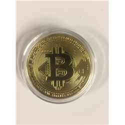 Gold Bitcoin Commemorative Round Collectors Gold Plated Coin