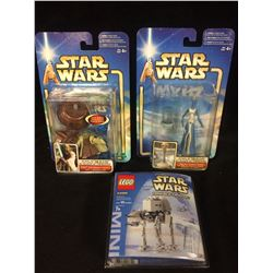 STAR WARS ACTION FIGURES & MINI BUILDING SET LOT (IN PACKAGING)