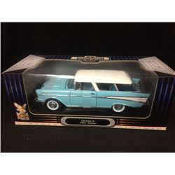 DIE CAST METAL 1957 CHEVROLET NOMAD 1:18 SCALE (IN BOX)