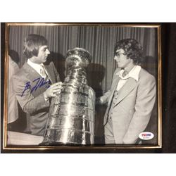 "GUY LAFLEUR AUTOGRAPHED 8"" X 10 PHOTO W/ COA"