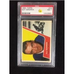 1963 TOPPS #16 GUY GENDRON (NM 7) PSA