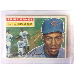 ERNIE BANKS 1956 Topps Baseball Card #15 Chicago Cubs