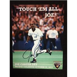 "JOE CARTER AUTOGRAPHED 8"" X 10"" PHOTO (VANCOUVER GIANTS CHARITY ORGANIZATION)"