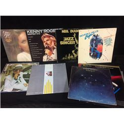 VINTAGE VINYL RECORDS LOT (KENNY ROGERS, NEIL DIAMOND, ELTON JOHN & MORE)