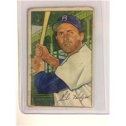 1952 BOWMAN BASEBALL ~ #80 ~ GIL HODGES ~ BROOKLYN DODGERS