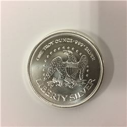 ONE TROY OUNCE 999 SILVER ROUND (LIBERTY SILVER)